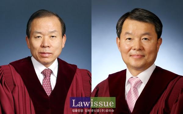 김이수 재판관과 이진성 재판관