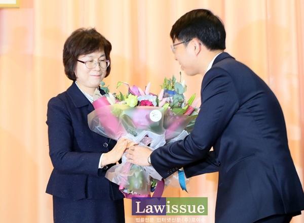 이정미 헌법재판관 퇴임식(사진=헌법재판소)